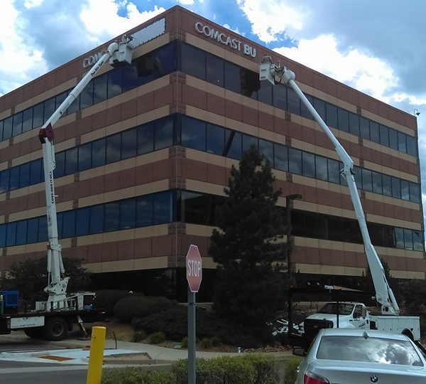 Comcast Channel Letter Install