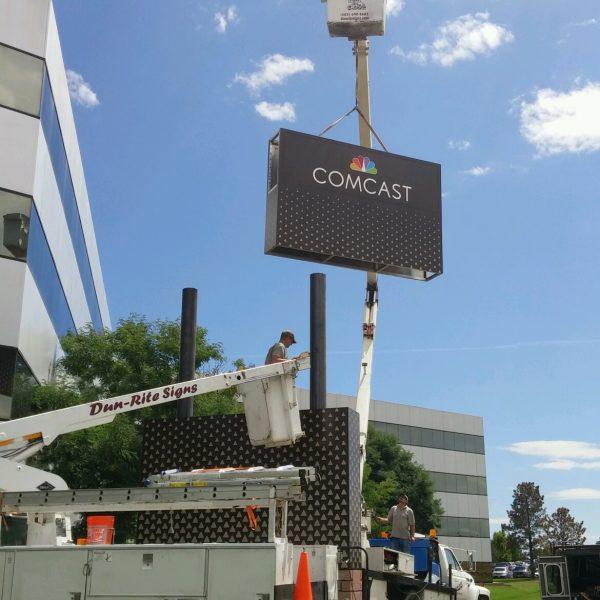 Dun-Rite Signs comcast install
